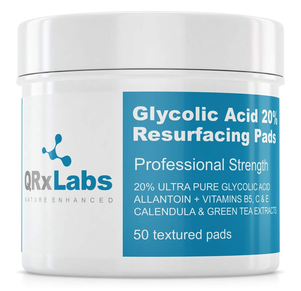 Glycolic Acid 20 Resurfacing Pads For Face Body With Vitamins B5