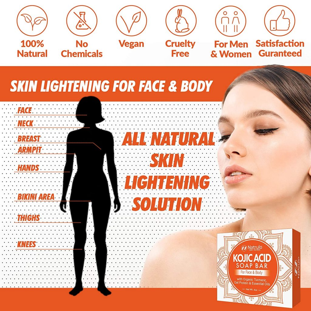 Kojic Acid Soap For Face Body All Natural Kojic Acid With Turmeric Skin Soap Bar Kojic Face Soap For Even Tone Bright Complexion